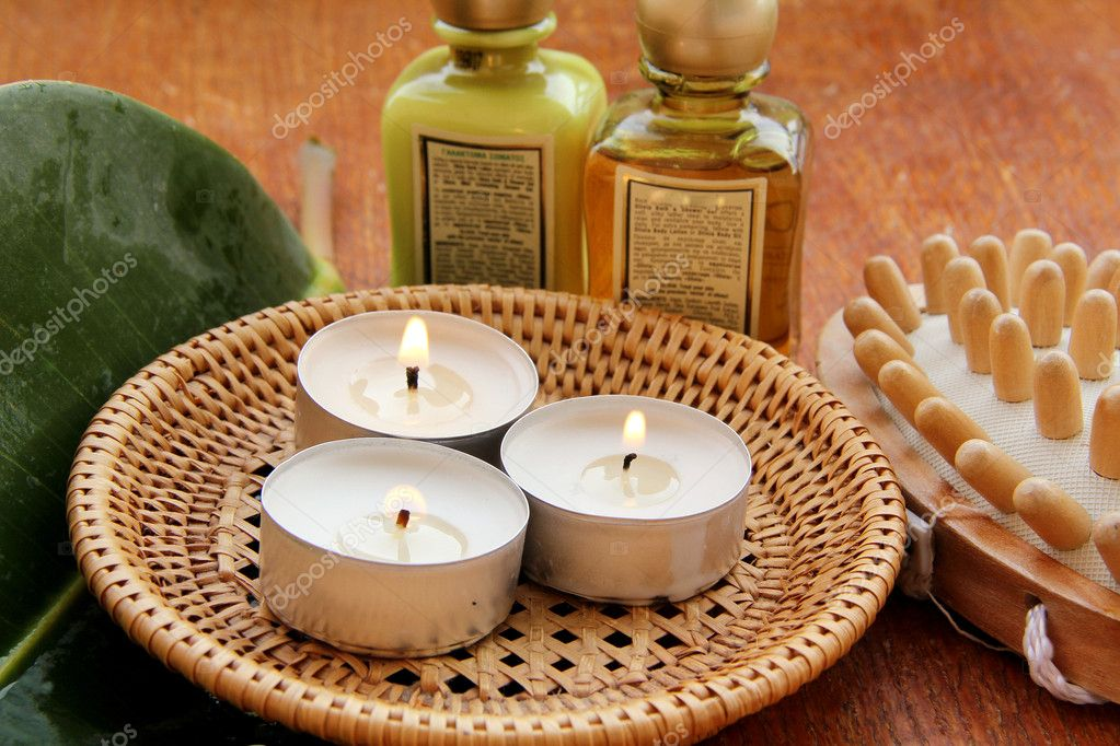Spa treatment .beautiful spa background. Natural Cosmetics — Stock Photo #4238846