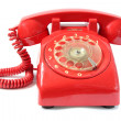 Vintage red phone — Stock Photo #4280664