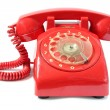 Stock Photo: Vintage red phone