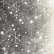 Abstract background with grunge snowflakes — Stock Photo