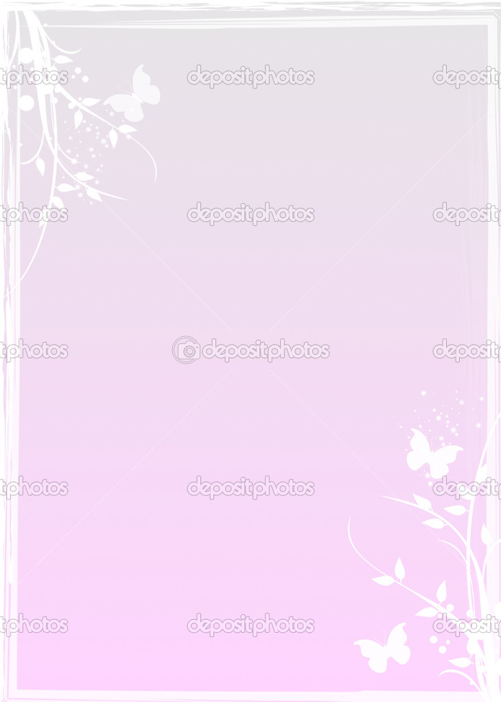 Wedding invitation with floral patterns  — Zdjęcie stockowe #4341785