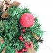 Christmas Decorations border — Stock Photo