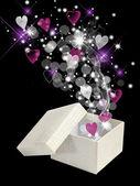 Valentine magic box — Stock Photo