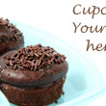 Chocolate cupcake on white background — Stock Photo