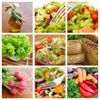Stock Photo: Healthy vegetables and Fresh Salad - collage