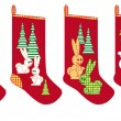 Christmas socks for gifts — 图库矢量图片