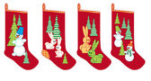 Christmas socks for gifts — Vector de stock