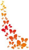 Flying Butterflies — Stock Vector