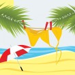 Time has come to sunbathe — Stock Vector