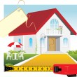 Sale of the private house — Stock Vector