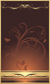 Decorative sprig. Background for design of wrapping — Stockvector