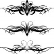Three floral patterns for design of frames - Stock vektor