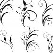 Sprigs. Floral elements for decor - Imagen vectorial