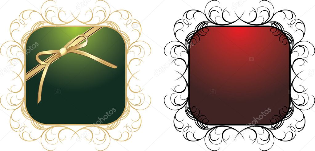 Two patterns for decorative frames. Vector illustration  Stock Vector #4920746