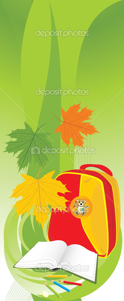 School composition. Banner. Vector illustration — Stock Vector #4924415
