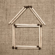 House from matches — Stock Photo #4438144