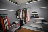 Clothes in closet — Stock Photo