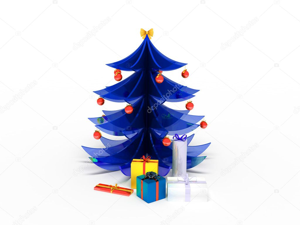 Souvenir New Year tree from glass — Stock Photo #4210306