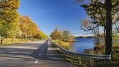Autumn's Swedish traveling — Stok fotoğraf