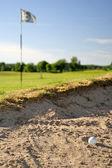 Unlucky golf shoot — Stock Photo