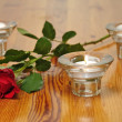 Rose on a table — Stock Photo