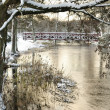 Swedish park river in winter season — Stock Photo