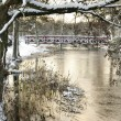 Swedish park river in winter season — Stock Photo #5309599