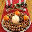 Christmas plate with delicacies — Stock Photo #5309610