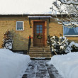 Stock Photo: Winter house entry