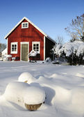 Swedish workhouse in winter season — Stock Photo