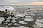 氷のようなバルト海沿岸 — ストック写真