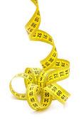 Měřící páska žlutá — Stock fotografie