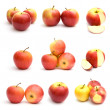 Red apples isolated on white background — Stock Photo