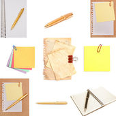 Stationery isolated on white background — Stock Photo