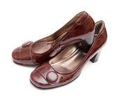 Marrone scarpe da donna — Foto Stock