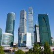 Scyscrapers of Moscow city under blue sky - Stock Photo