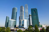Scyscrapers of Moscow city under blue sky — Stock Photo