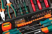 Set of tools in black box — Stock Photo