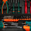 Tool kit in black box — Stock Photo