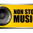 Stock Photo: Non stop music