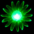 Photo of green light bulbs because of the flower — Stock Photo #5246096