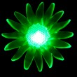 Stock Photo: Photo of green light bulbs because of the flower
