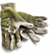Worn Out Garden Gloves — Stock Photo