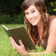 Pretty Girl Reading Book — Stock Photo #4872930