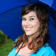 Stock Photo: Gorgeous Girl with Umbrella