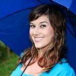Постер, плакат: Gorgeous Girl with Umbrella