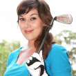 Lady Golf Player — Stock Photo