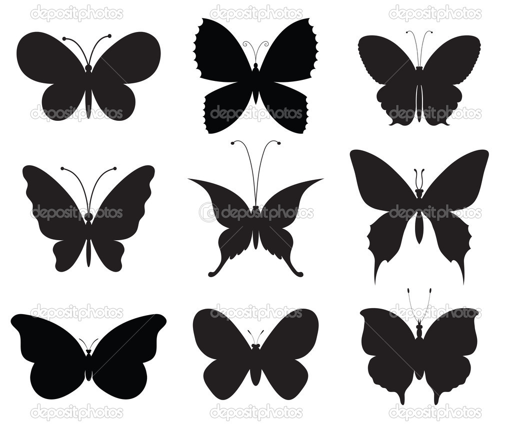 Nine different vector butterflies, each one on a separate layer. — Stock Vector #4925857