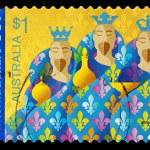 Australian Christmas Postage Stamp — Stock Photo #4124674