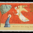 English Christmas Postage Stamp — Stock Photo